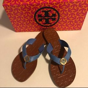 Tory Burch Blue Sandals! Brand New with Box!!